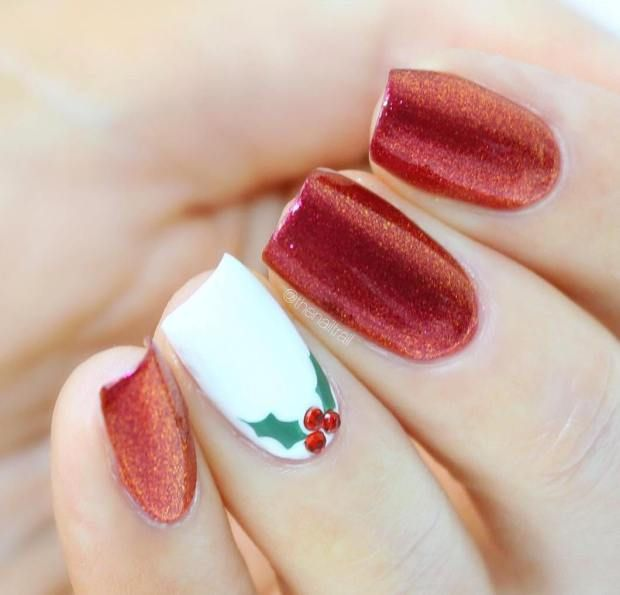 Best 25 christmas present nails ideas on pinterest christmas 55 stunning christmas nail designs 2016 17 prinsesfo Choice Image