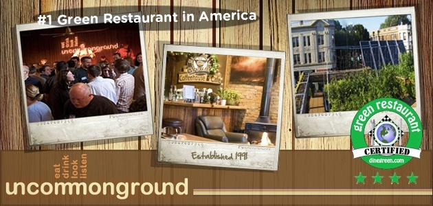 Uncommon Ground, Chicago, produces no waste, powers its vehicle with used fryer oil, harnesses the sun to heat their water, and feeds customers with locally sourced, sustainably produced products, as well as from their own Rooftop Farm..