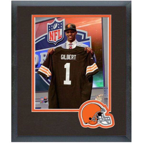 Justin Gilbert Cleveland Browns Historic Logo NFL Draft Framed Photo Mat - $22.99