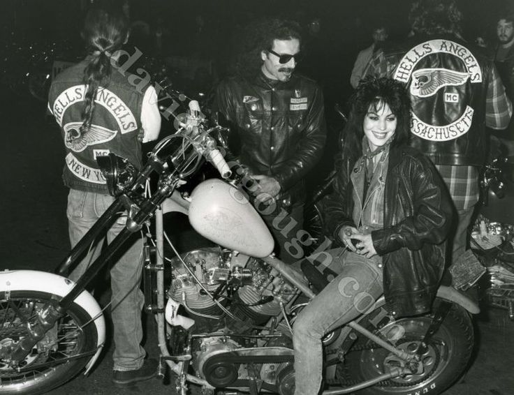 Joan Jett Hells Angels 1985 NYC