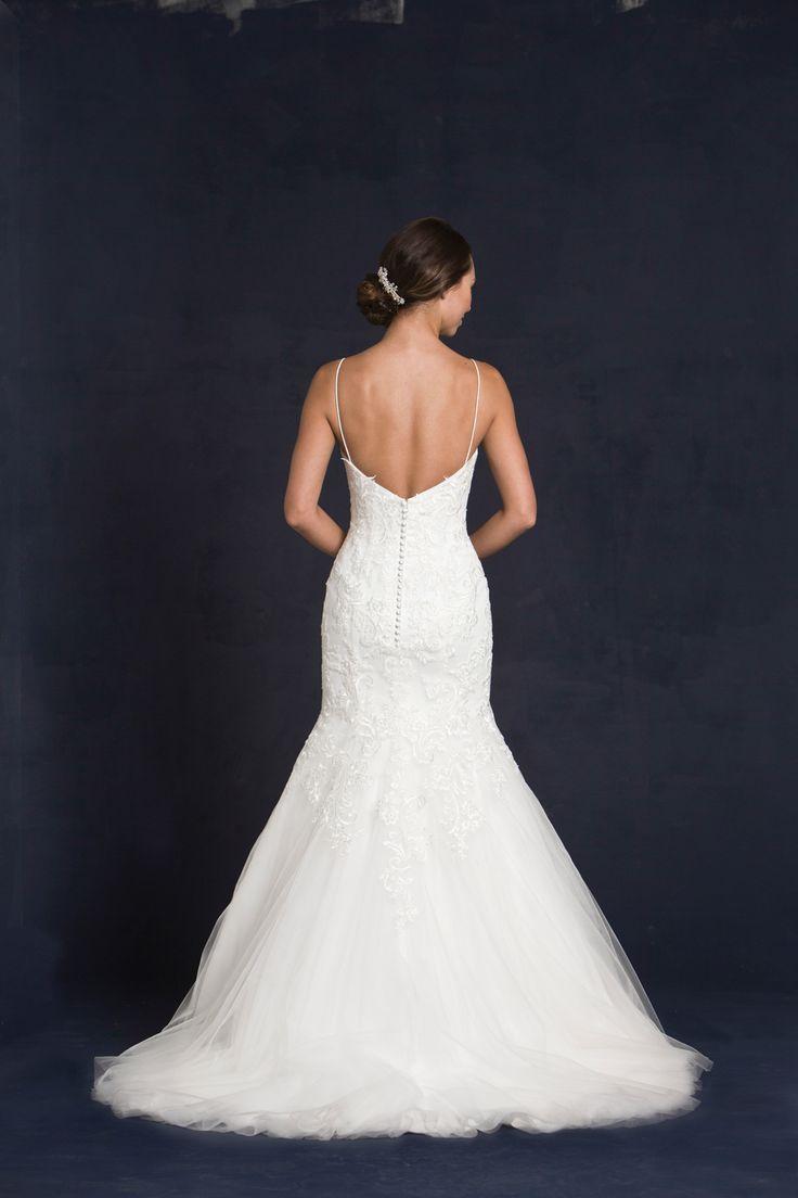 Your Dream Bridal // Lis Simon - Sweetheart neckline, spaghetti straps, trumpet skirt, lace appliqué, tulle skirt, zipper back. http://www.yourdreambridal.com