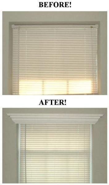Add crown molding to the tops of bedroom windows. Don't need this in the house…