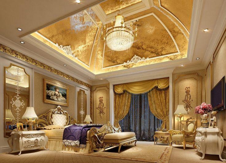 Huge luxury master bedroom vaulted ceilings crown molding