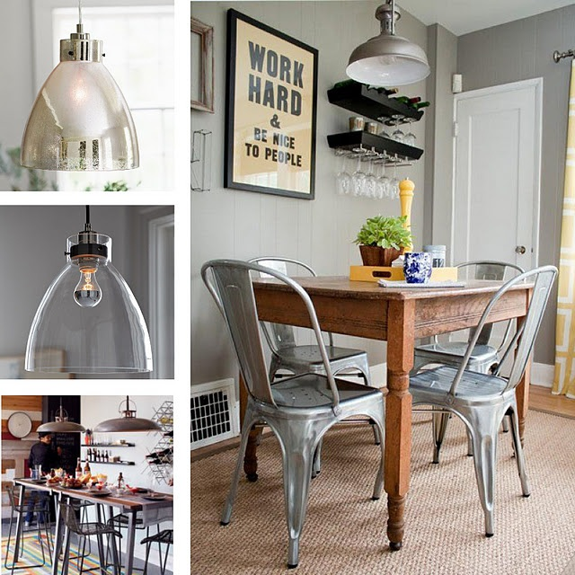 light fixtures love the metal chairs for our downstairs game table? may be too cold to sit in for a long time though?