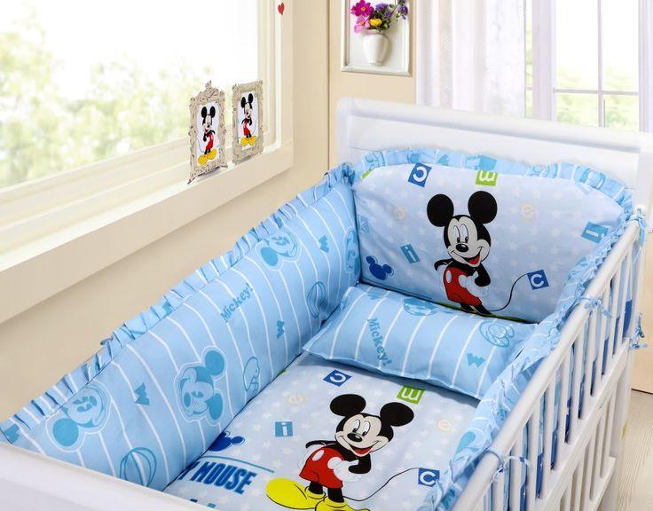Mickey Mouse Crib Bedding Set