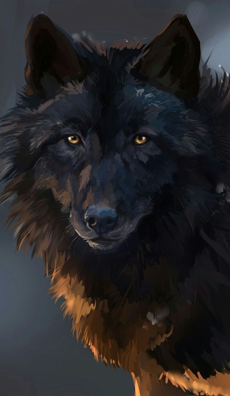 Beautiful Wolf Painting