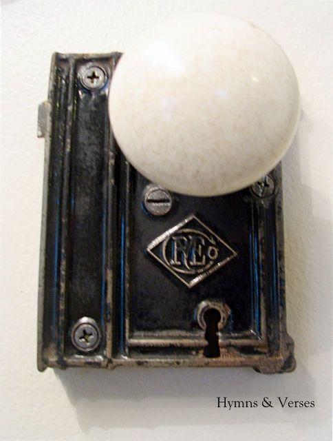 Old Door Knob Hardware   Hand Towel Holder