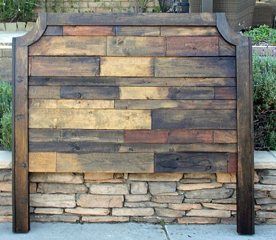 Rustic Wood Grace headboard. Need a different size let me know I LOVE custom orders.  Customer can pick any stain or paint. This is a very rustic