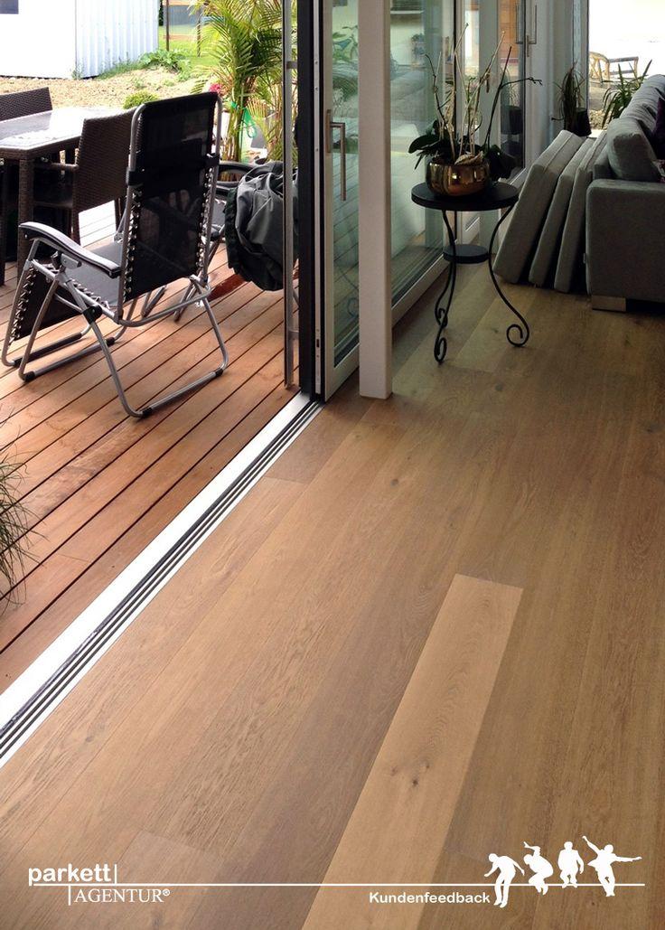 Kundenfeedback aus Uttwil in der Schweiz. WILDBRETT 1-Stab Landhausdiele Asteiche gebürstet angeräuchert gekalkt geölt #wood #parkett #holzboden #woodflooring