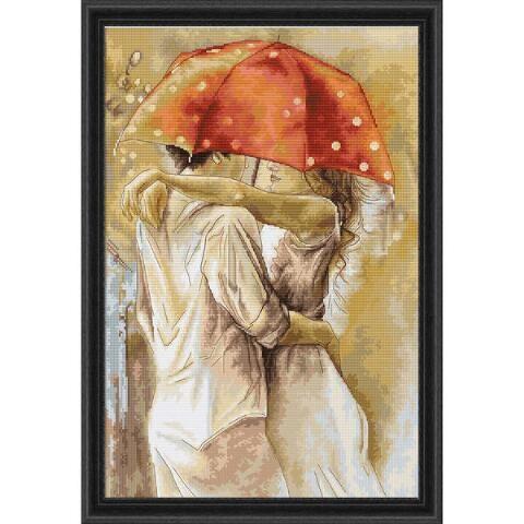 Under Umbrella Counted Cross-Stitch Kit - Herrschners #love #couple #romance