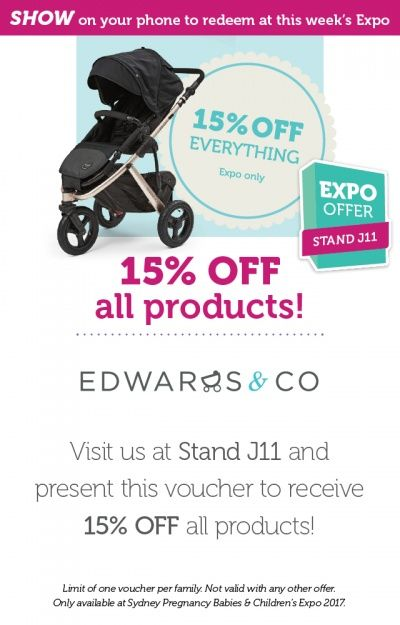 Edwards & Co have 15% off all products at our Sydney Expo this weekend, 19-21 May!
