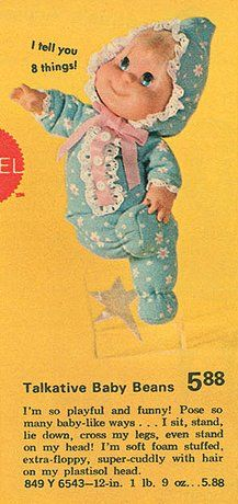 Baby Beans dolls...I had one of these!