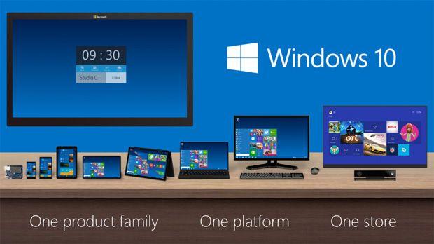 Windows 10va fi primul sistem de operare Microsoft unificat pentru utilizarea pe orice tip de dispozitive electronice, de lacalculatoare şilaptopuri la tablete şismartphone-uri,iar de acelaşi tratament vor beneficia şi aplicaţiile.