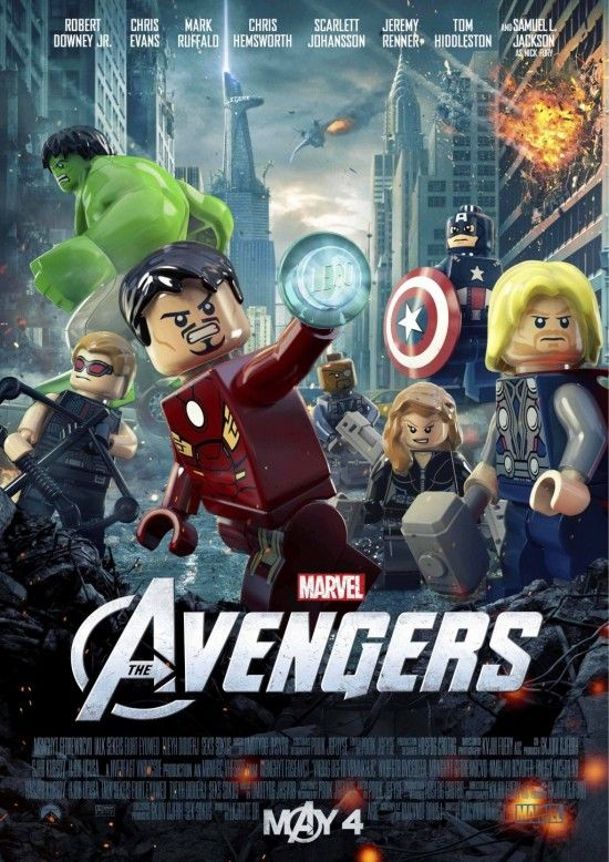 Official LEGO Avengers poster art from Marvel and LEGO