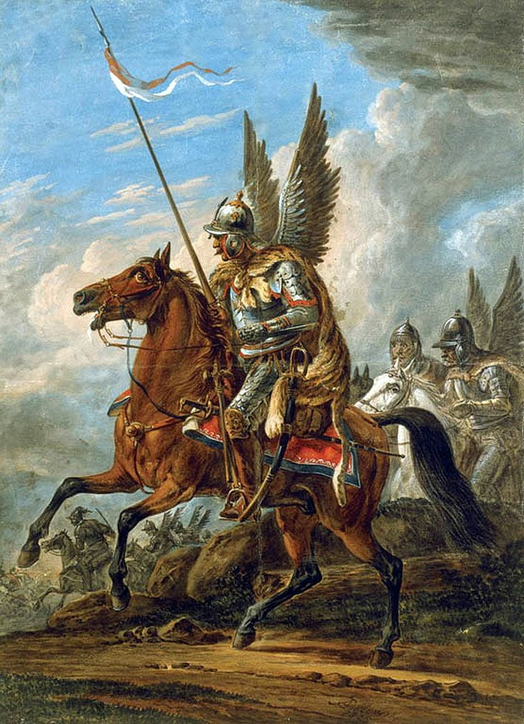 Polish Winged Hussar, Painting by Aleksander Orłowski. The title and distinctive dress of these horsemen were subsequently widely adopted by light cavalry regiments in European and European colonial armies in the late 17th and 18th centuries. A number of armored or ceremonial mounted units in modern armies retain the designation of hussars.