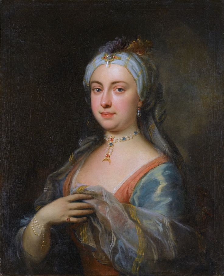Lady Mary Wortley Montagu, Joseph Highmore, early 18th century. Oil on canvas.