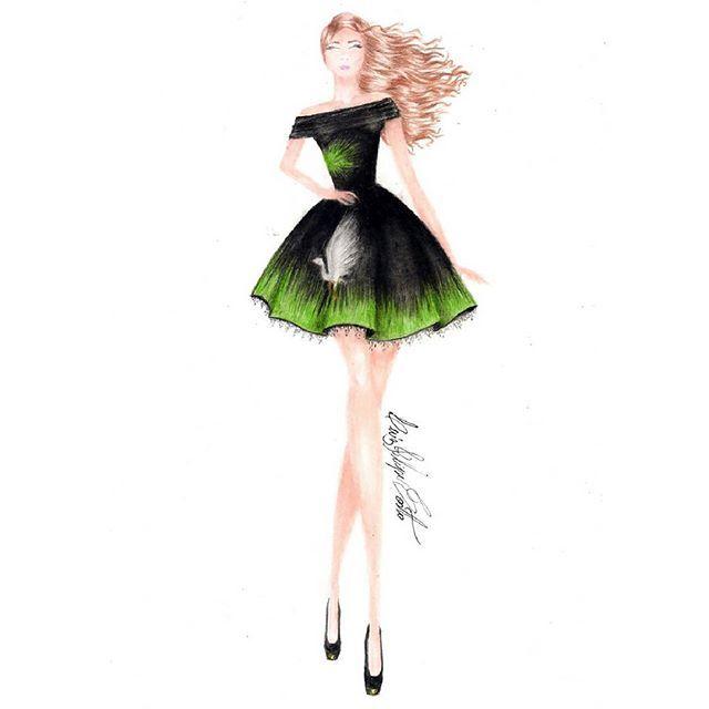 Egret Song (Vídeo mostrando o passo a passo no canal *Link na bio) @canaltreschic  #croqui #moda #fashion #desenho #draw #drawing #design #desenhodemoda #makeup #sketch #fashionillustration #croquidemoda #fashiondesign #art #estilista #dress #ilustração #designdemoda #illustration #croquis #instafashion #designer #fashiondesigner #vestido #instamoda #fashiondraw #fashionista #fashionillustrator #fashionsketch #sketchbook