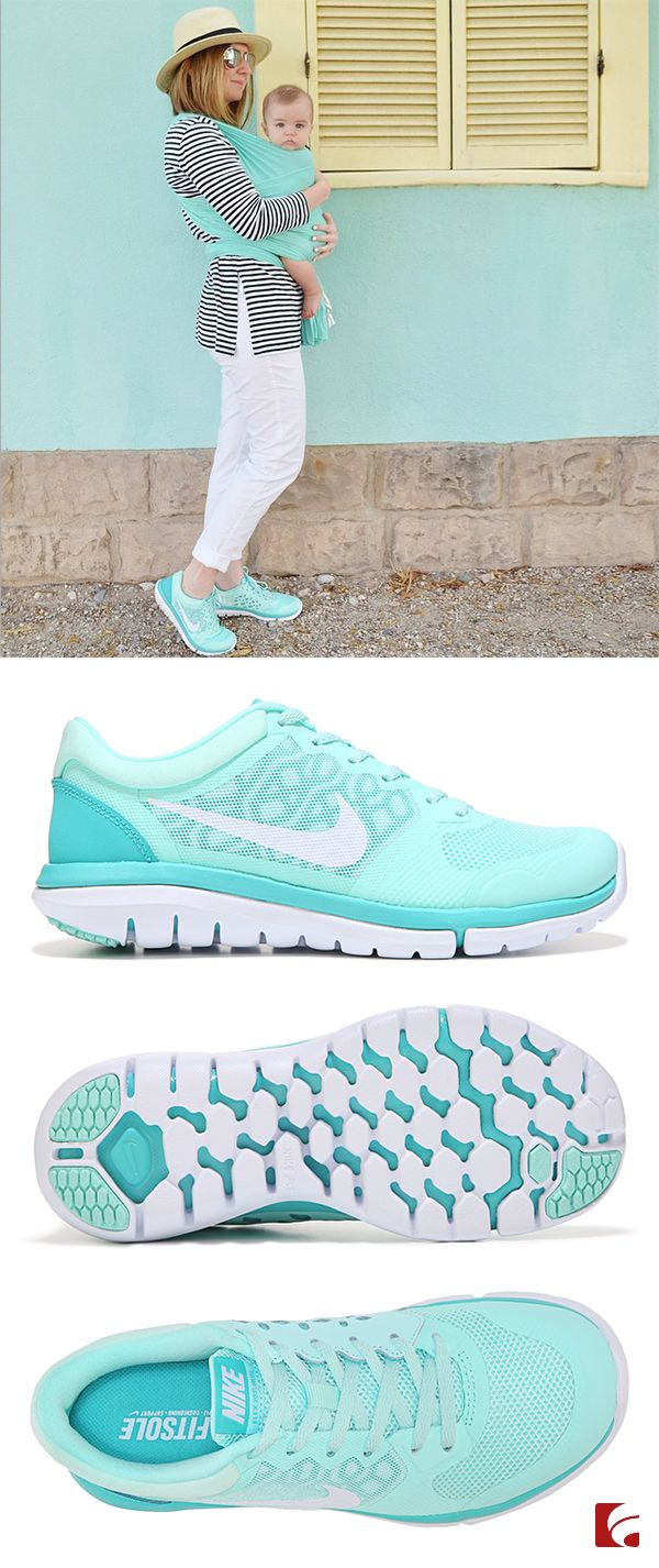 A comfy classic running shoe for a great workout or kickin' it with the kiddos. The teal Nike Flex 2015 will make your feet feel happy so that you can get back to the important things in life. (Photo cred: @mommasociety)