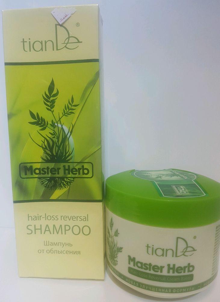 TianDe Master Herb Anti-Hair loss reversal   Shampoo Balm 420ml & 500g  21310  #Tiande