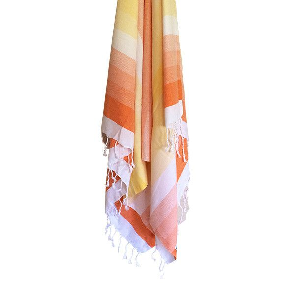 Byron Tangerine & Lemon Cotton Turkish Towel