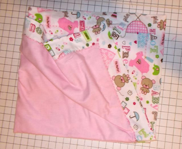 FREE PATTERN Two Layers of Flannel for Extra Warm Blanket!: Warm Double Flannel Baby Blanket - Gather Your Materials