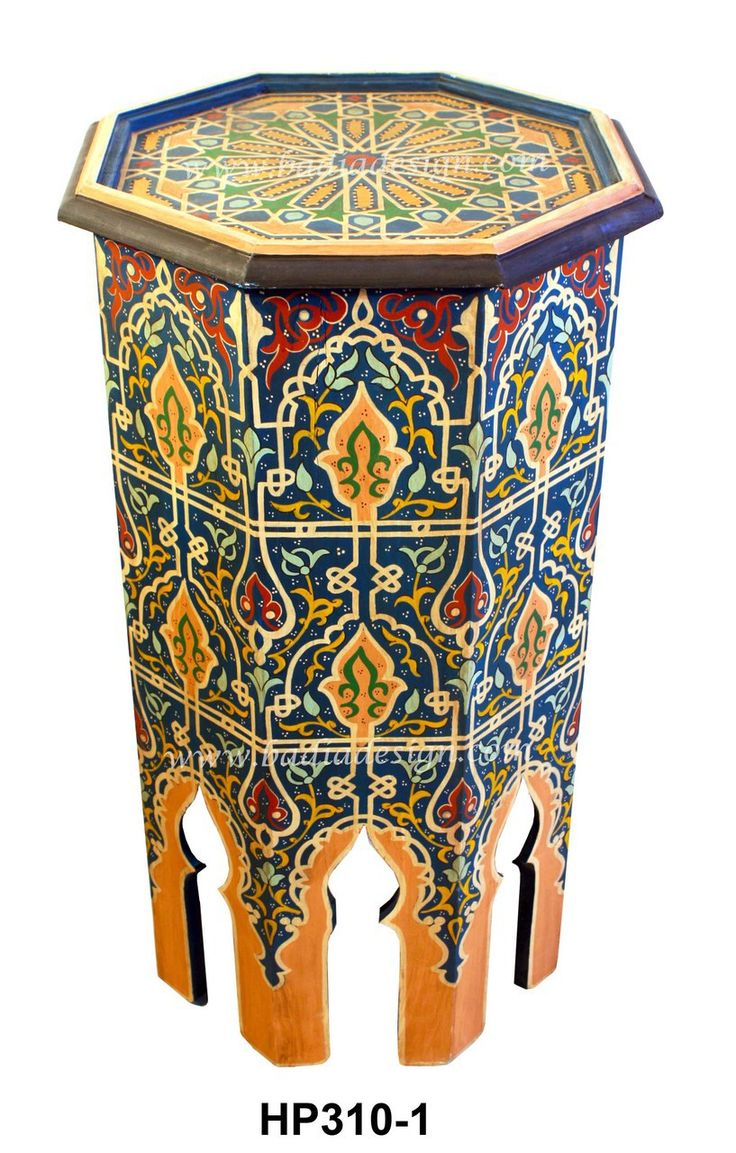 Mediterranean living room los angeles by badia design inc - Badia Design Inc Store Tall Hand Painted Side Table Hp310 295 00 Http