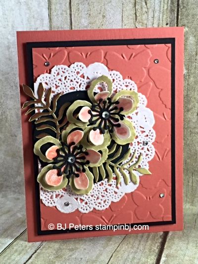 Botanical Blooms  Botanical Builder  WInk of Stella  Fluttering  Stampin  39  Up   BJ Peters