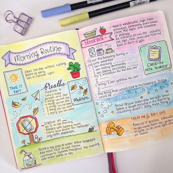 127 Bullet Journal Morning Routines Ideas To Power Start Your Mornings