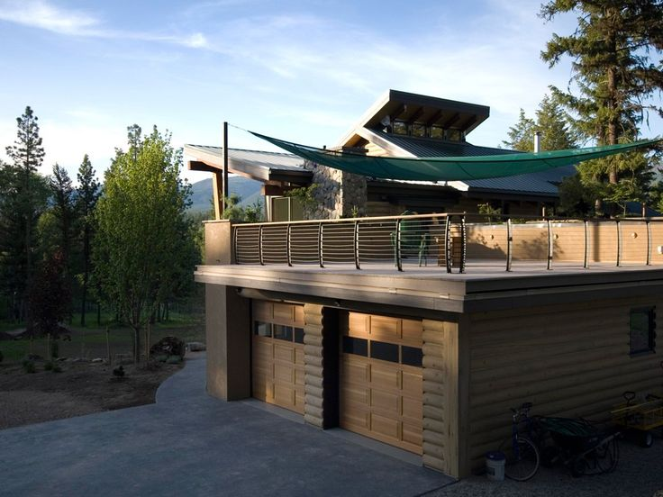 43 best images about decks on pinterest fireplaces screened in patio and full bath - Houses garage deck rooftop party ...