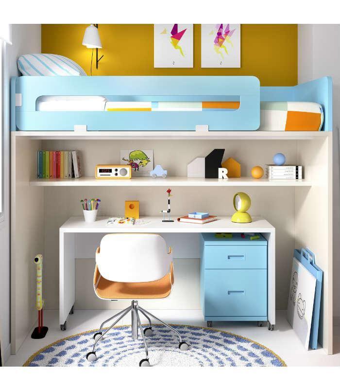 scale partido a las pequeas literas con escritorio integrado gran en espacios