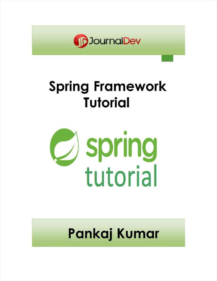 Java EE: Spring Framework Tutorial