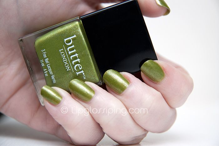 Butter London polish in Dosh.  $13 at Whole Foods.  I always wondered if the expensive polish was really THAT much better than the cheapo stuff.....it really kinda is!  Plus it's DPB, Toulene and formaldehyde free and made by a local Seattle company!