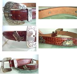 New Listing Started Doppia Vita Stunning Equestrian Unisex Western Belt Gold Charms 75/28 Italy s,m C$79.00