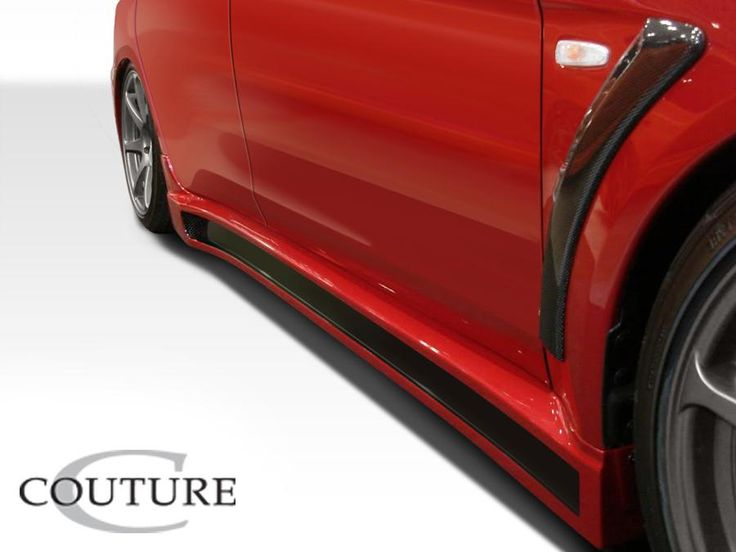 2008-2015 Mitsubishi Lancer Evolution 10 Couture C-Speed Side Skirts Rocker Panels - 2 Piece (Overstock)