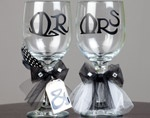 Cricut wedding toast goblets for the bride and groom!