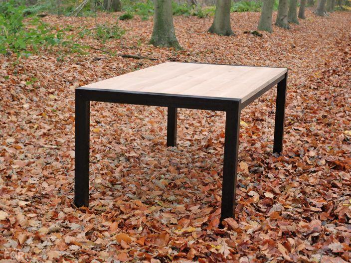 59 best steigerhouten tafels en bureau 39 s images on pinterest. Black Bedroom Furniture Sets. Home Design Ideas