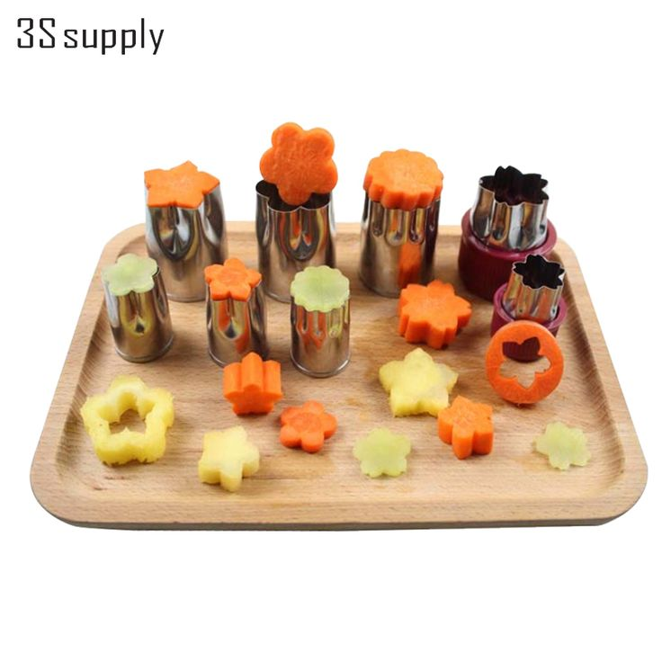 Multifunction 8Pcs Stainless Steel  Flower Star Shape Vegetable Fruit Cutter Mold As Seen On TV kitchen accessories Gadgets