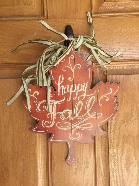 Rustic fall leaf door hanger by SeelyWerks on Etsy & 548 best door hangers images on Pinterest | Xmas Christmas crafts ...