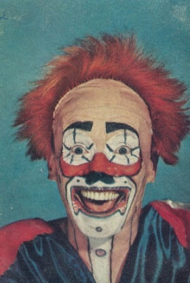 Vintage 1940s Clown Images - gruesome & beautiful #5