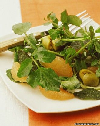 """See the """"Watercress Salad with Grapefruit, Olives, and Fried Sage"""" ..."""