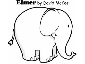 After Reading Elmer And Studying The Letter Ee Have Students Design Elephant OutlineCute ElephantAnimal Coloring PagesColoring