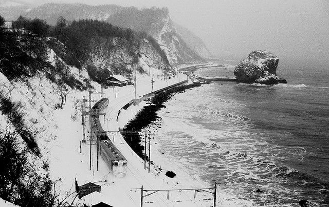 Hakodate Main Line (Hakodate Honsen) is a railway line between the cities of Hakodate & Asahikawa on the island of Hokkaido. It is one of the trunk lines operated by JR Hokkaido. Construction of the line began with the Otaru-Sapporo segment in 1880 & was completed by 1898. Hokkaido Shinkansen stations are planned at the stations of the line, namely at Oshima-Ono, Kutchan, Oshamambe and Sapporo.    *two days spent to take this shot.  from the Harius Station to Point of spot takes 1hour.