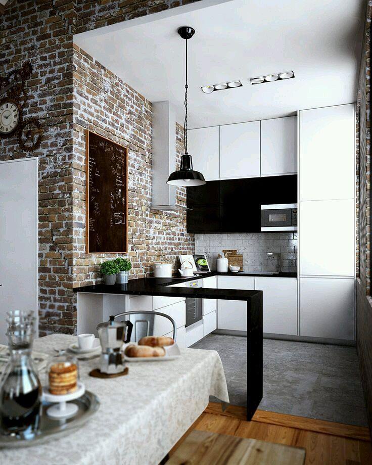 Cozinha Americana Pequena: 60 Projetos Para Se Inspirar Part 93