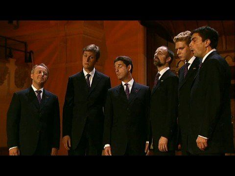 Kings' Singers singing composers' names in the composer's style