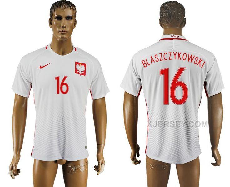http://www.xjersey.com/poland-16-blaszczykowski-home-uefa-euro-2016-soccer-thailand-jersey.html POLAND 16 BLASZCZYKOWSKI HOME UEFA EURO 2016 SOCCER THAILAND JERSEY Only $35.00 , Free Shipping!