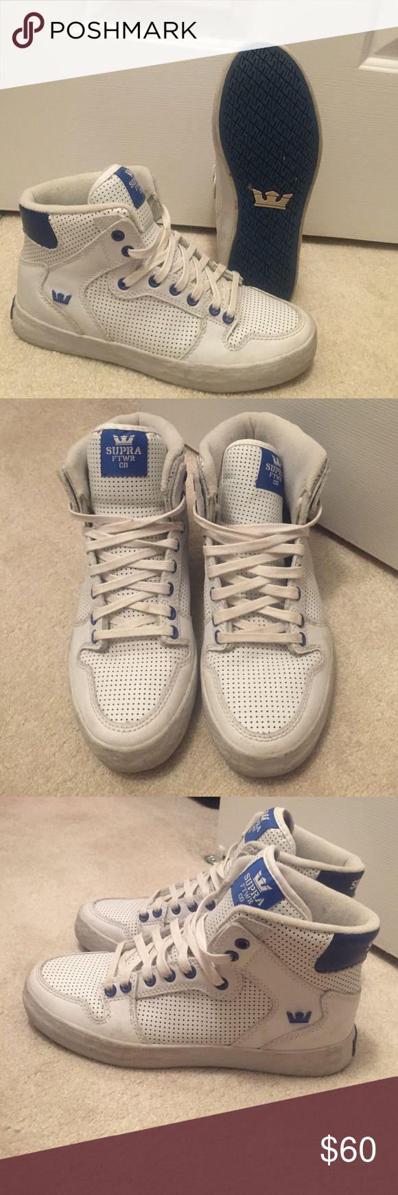 Men's supra high tops Barely worn white high top supra Supra Shoes Sneakers