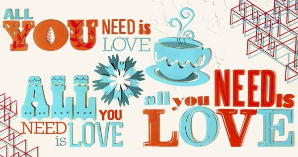 Amor y Amistad Florina by Lucho Salazar, via #Behance. #Typography #LuchoSalazar