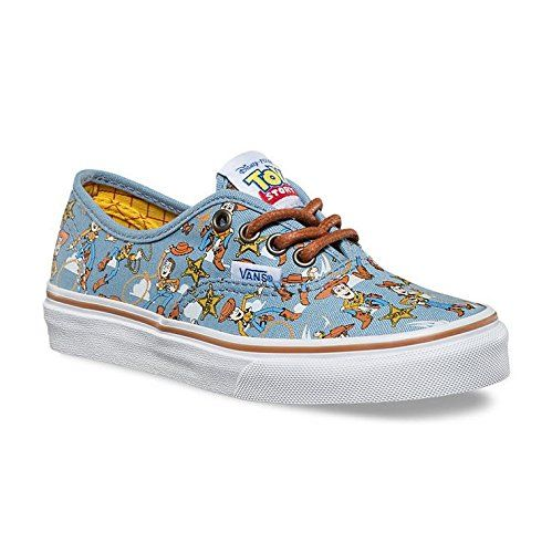 Vans Kids Authentic (Toy Story) Woody/True Wht Skate Shoe 13 Kids US. Padded footbed. Lace up shoe. Vans Sheriff Woody Print.