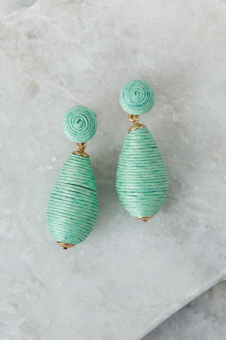 1 Unique Self Mint Earrings at reddressboutique.com