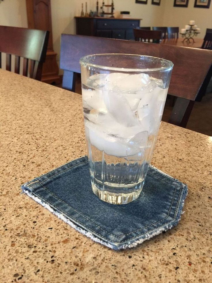 Turn Cut up Jeans and a Milk Carton into Adorable Coasters